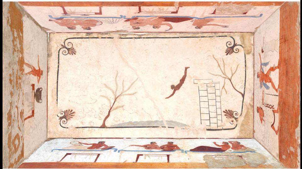 Risultati immagini per tomba del tuffatore paestum