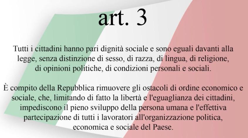 senato.it - La Costituzione - Articolo 3