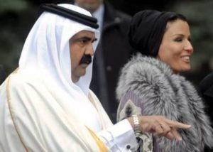 Emiro-del-Qatar-Sheikh-Hamad-bin-Khalifa-e-la-moglie-preferita