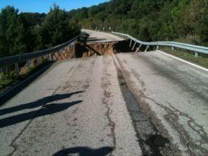 Ponte crollato a Monte Pino (Gallura)