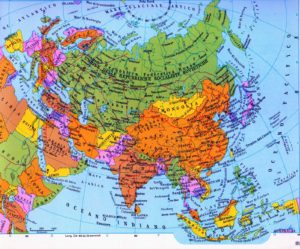 carta pol Europa, Urss e Asia nel 1989