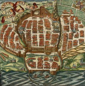 Mappa_di_Cagliari_di_Sigismondo_Arquer_dalla_Cosmographia_di_Sebastian_Munster_-_1550