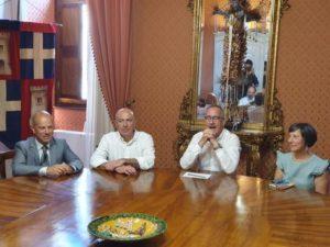 Il sindaco di Sassari Nanni Campus con il rettore Massimo Carpinelli e gli assessori Gabriele Mulas e Francesca Lugli??