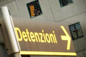 Una immagine d'archivio di un carcere italiano. La Commissione Giustizia del Senato ha deciso di calendarizzare per marted?? prossimo 15 ottobre  l'esame dei disegni di legge sull'amnistia e l'indulto, 10 ottobre 2013. ANSA / CIRO FUSCO