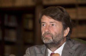 Il ministro dei Beni Culturali e del Turismo, Dario Franceschini, durante la conferenza stampa di presentazione della Giornata europea della cultura ebraica presso il Mibact a Roma, 5 settembre 2017. ANSA/CLAUDIO PERI